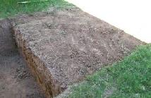 Back slope - top soil skimmed